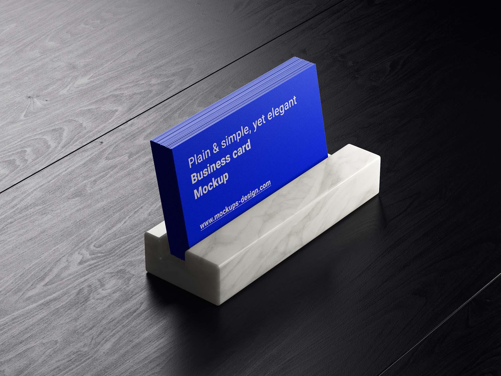 Business Cards in Holder Mockup 2