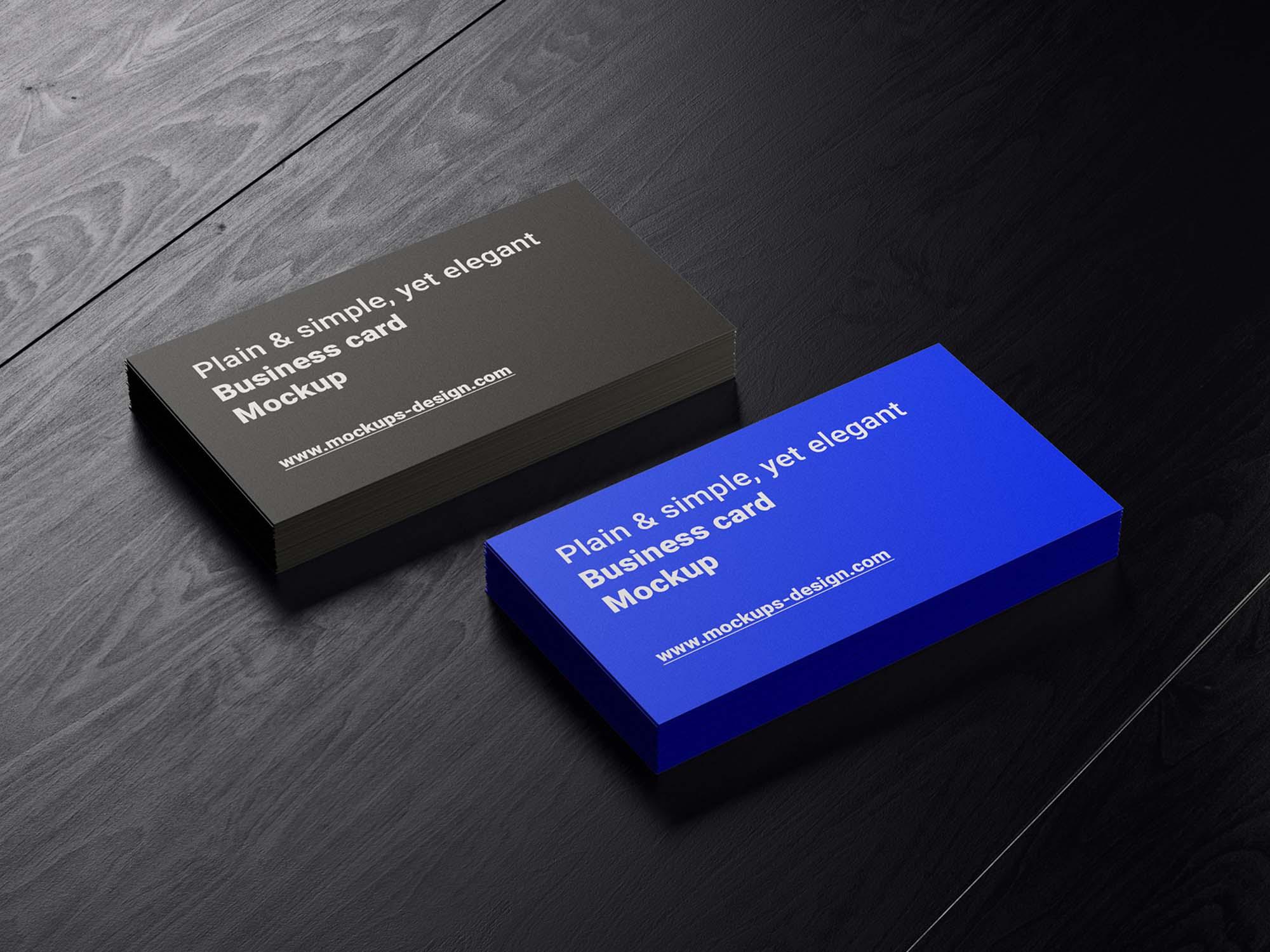 Business Cards in Holder Mockup 3