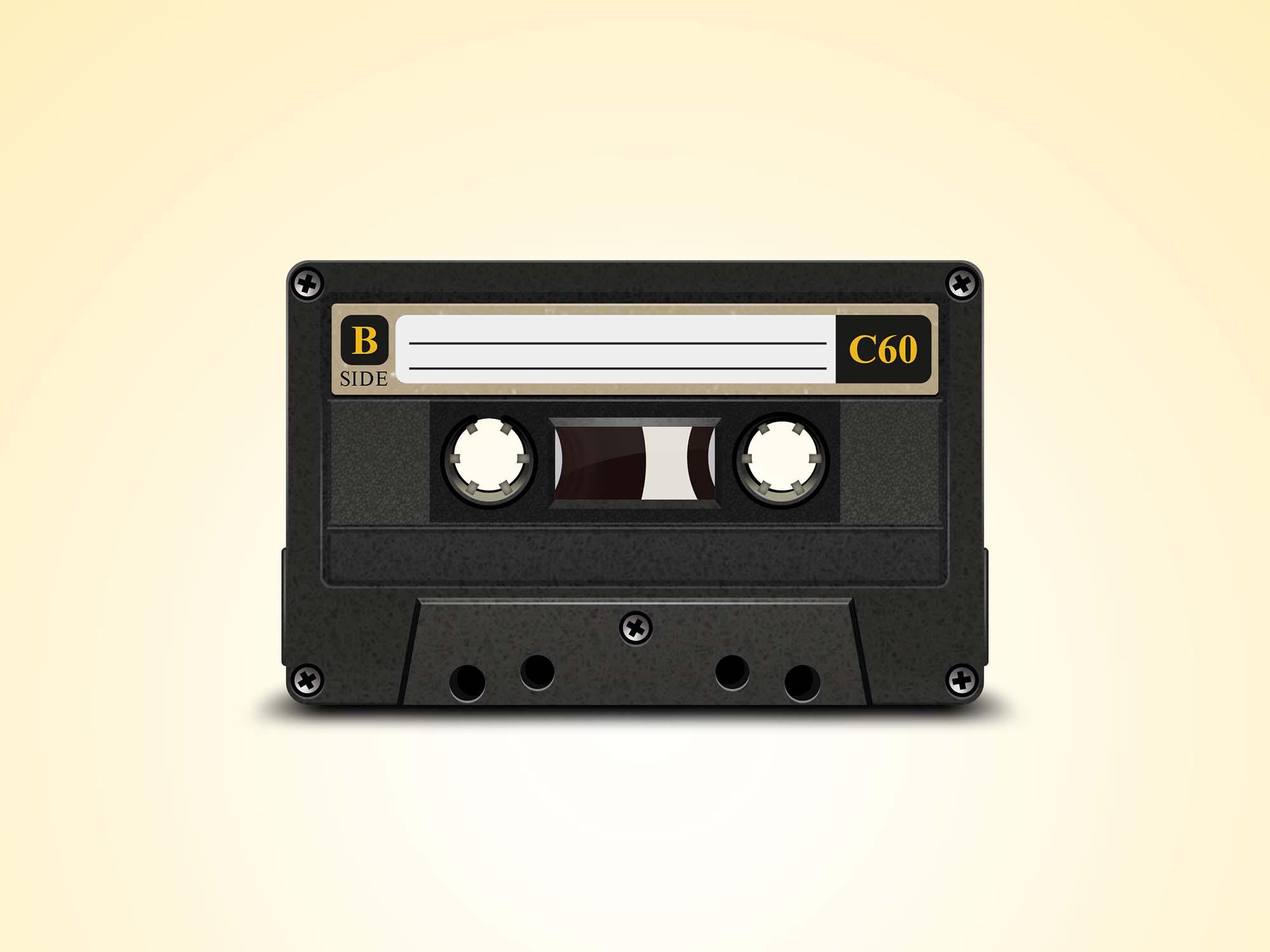 Old Cassette Mockup