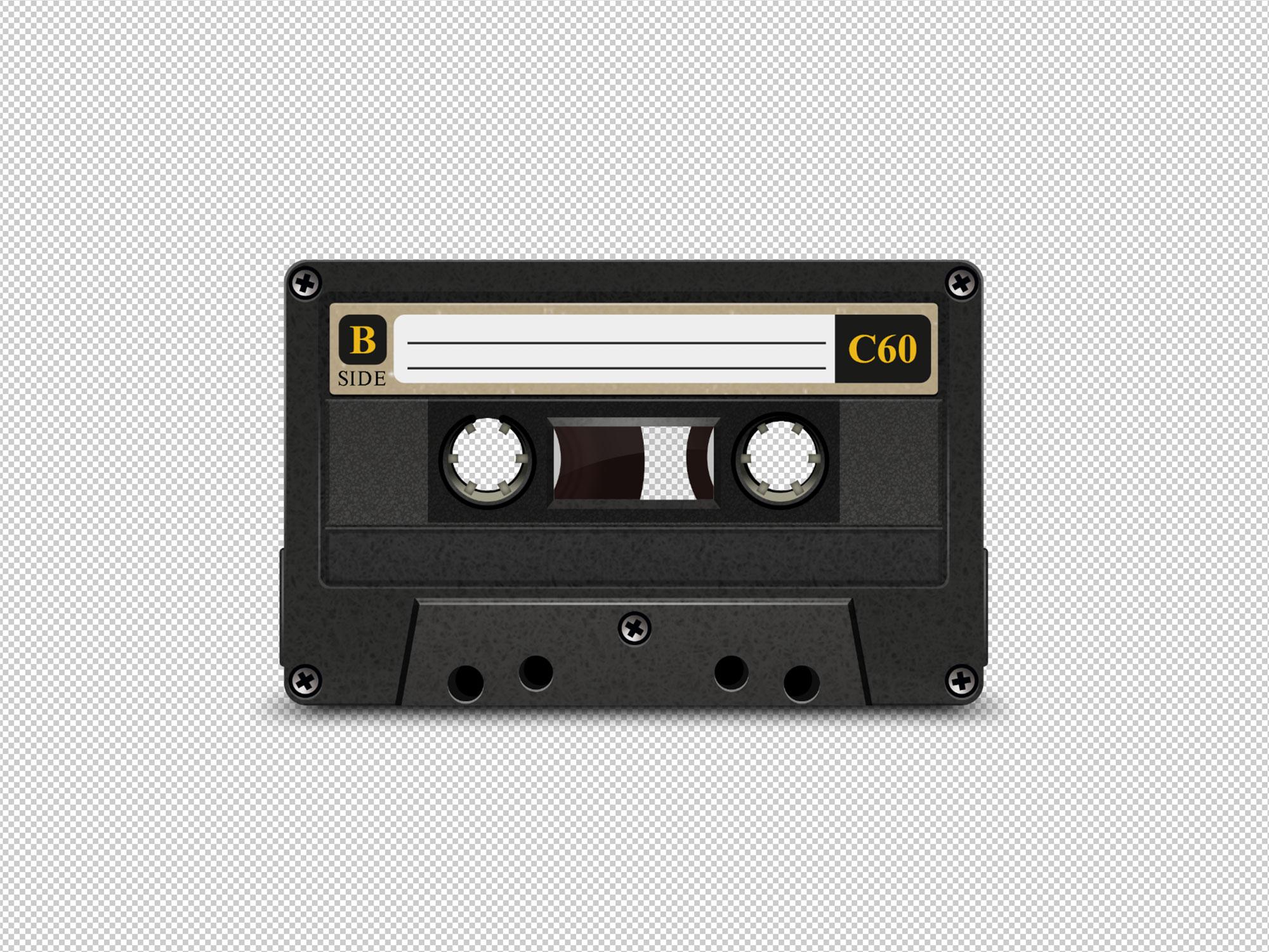 Old Cassette Mockup 2