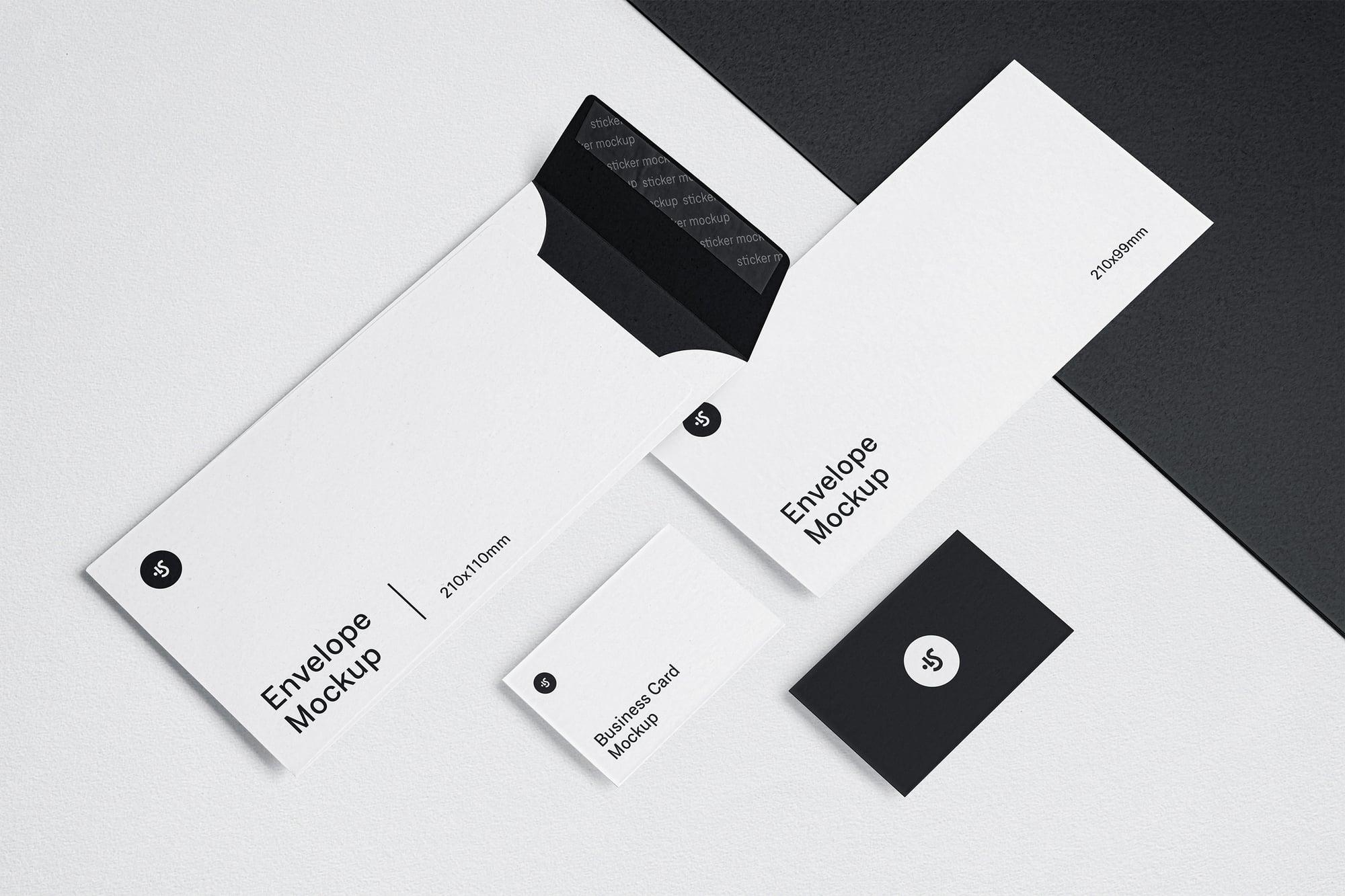 Envelope and Business Card Mockup 3