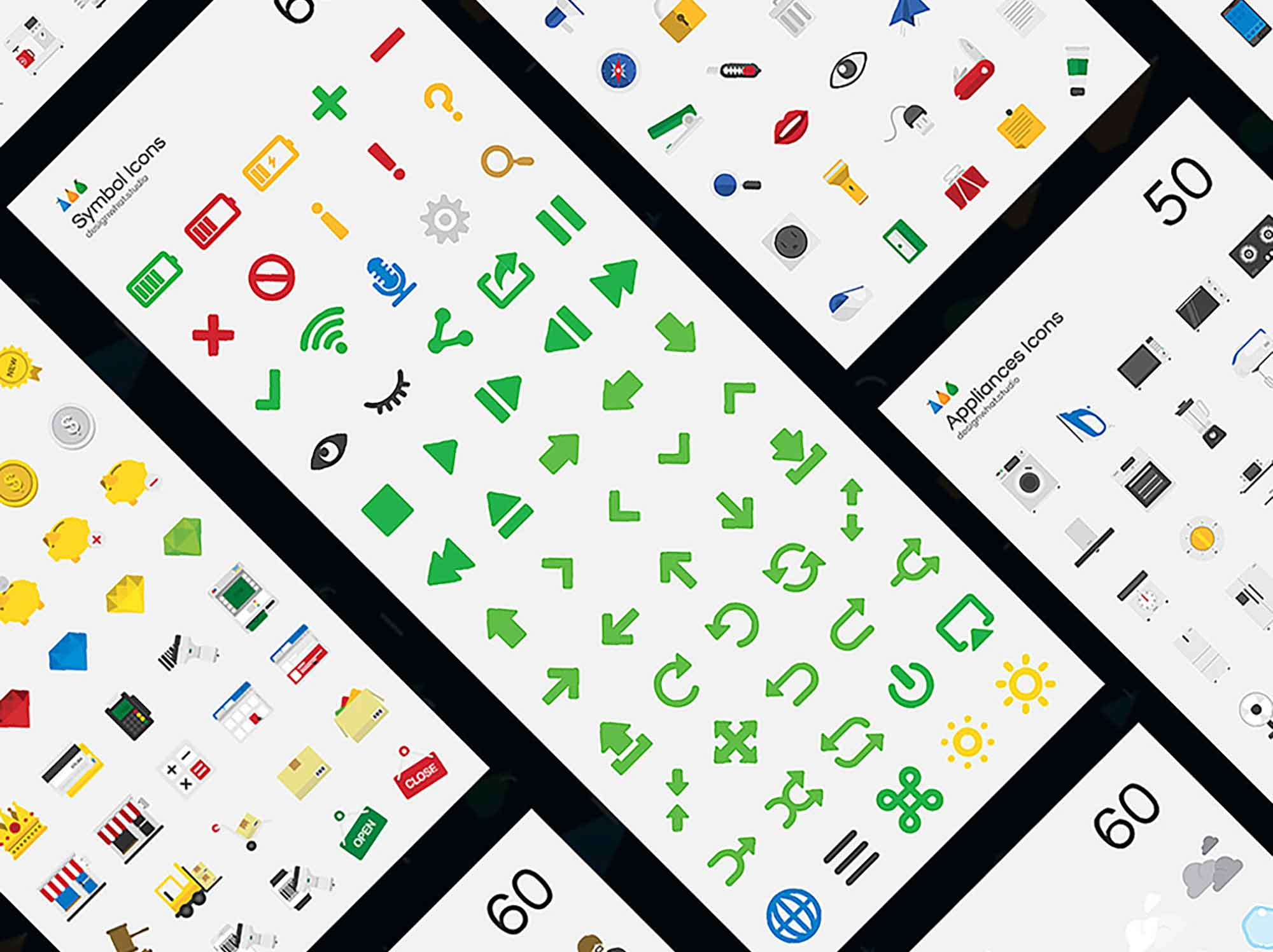 Flat Vector Icons 2