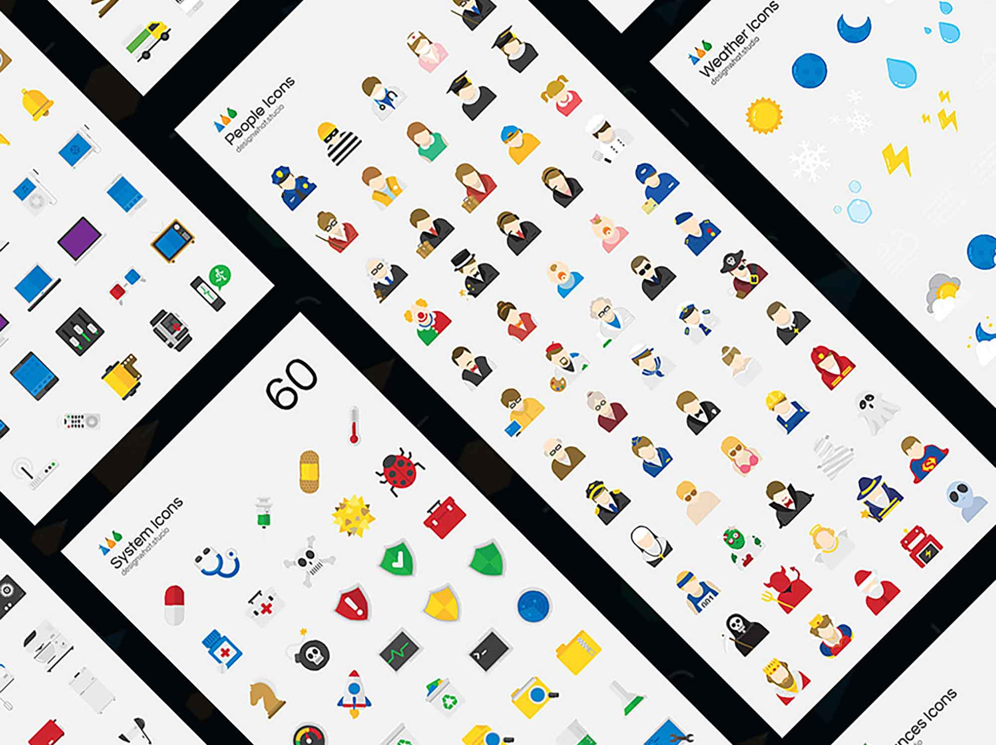 Flat Vector Icons 3