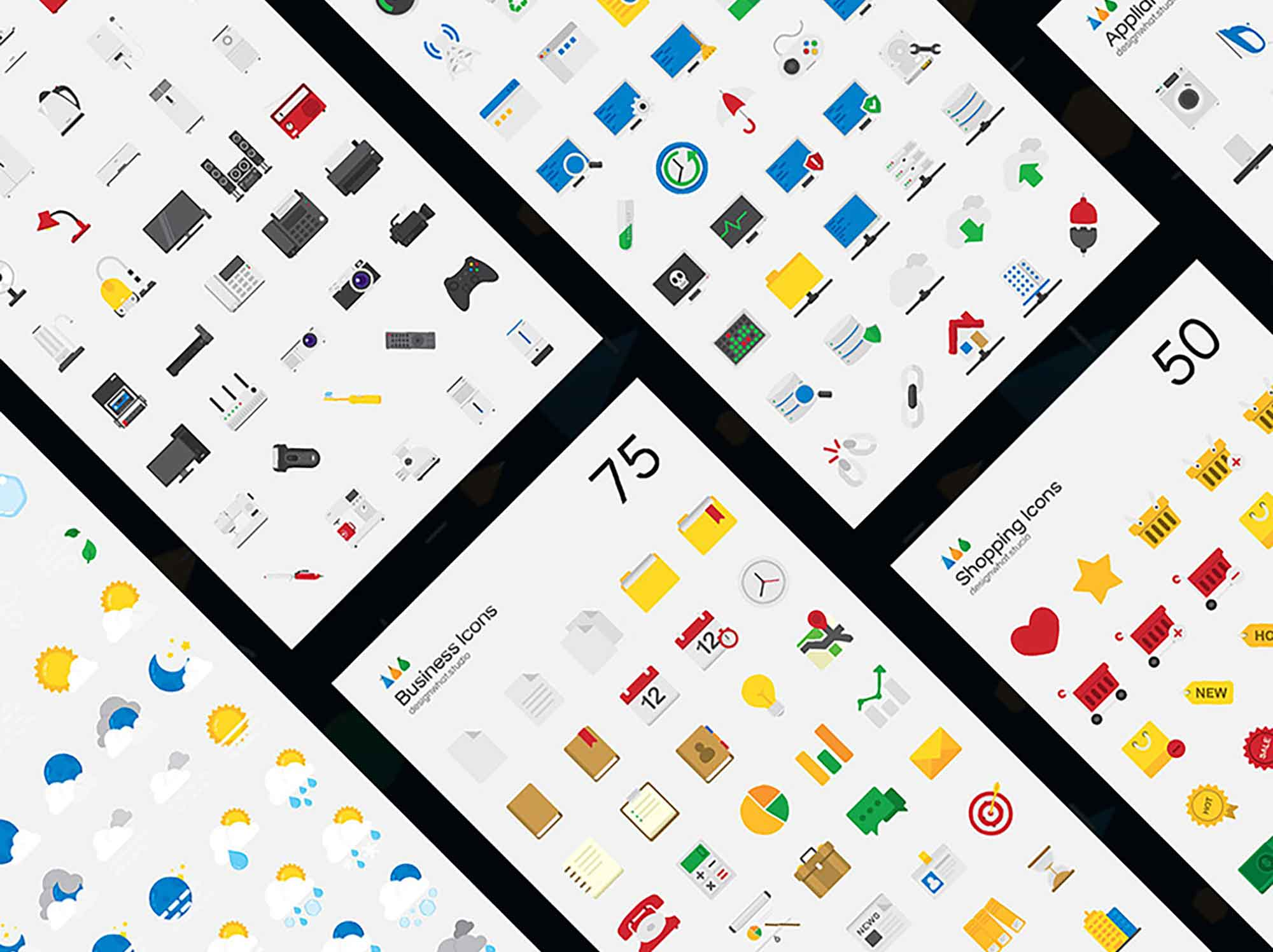 Flat Vector Icons 4