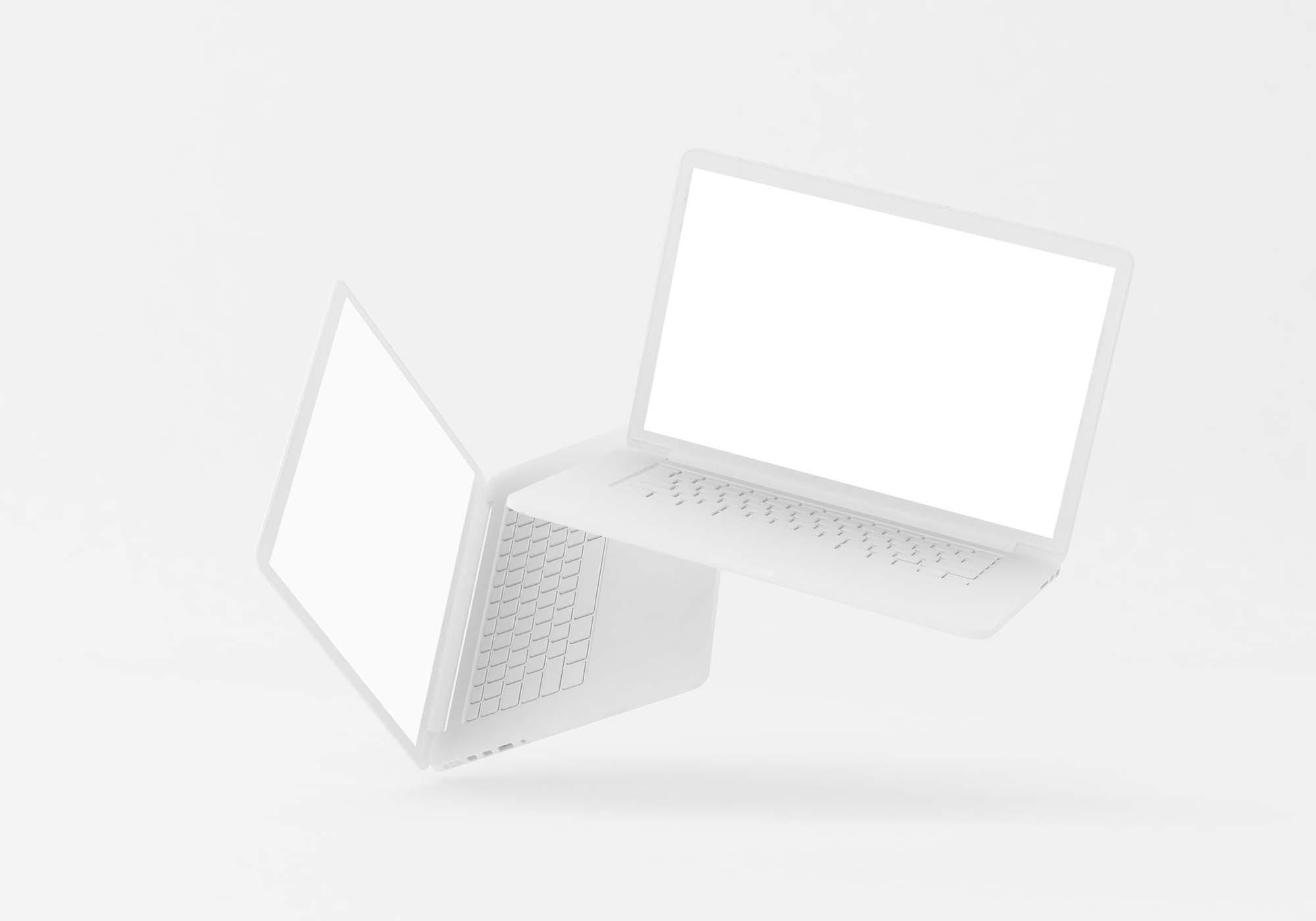Floating MacBook Mockup 2