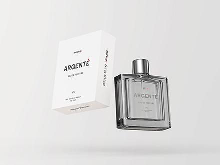 Floating Perfume Mockup
