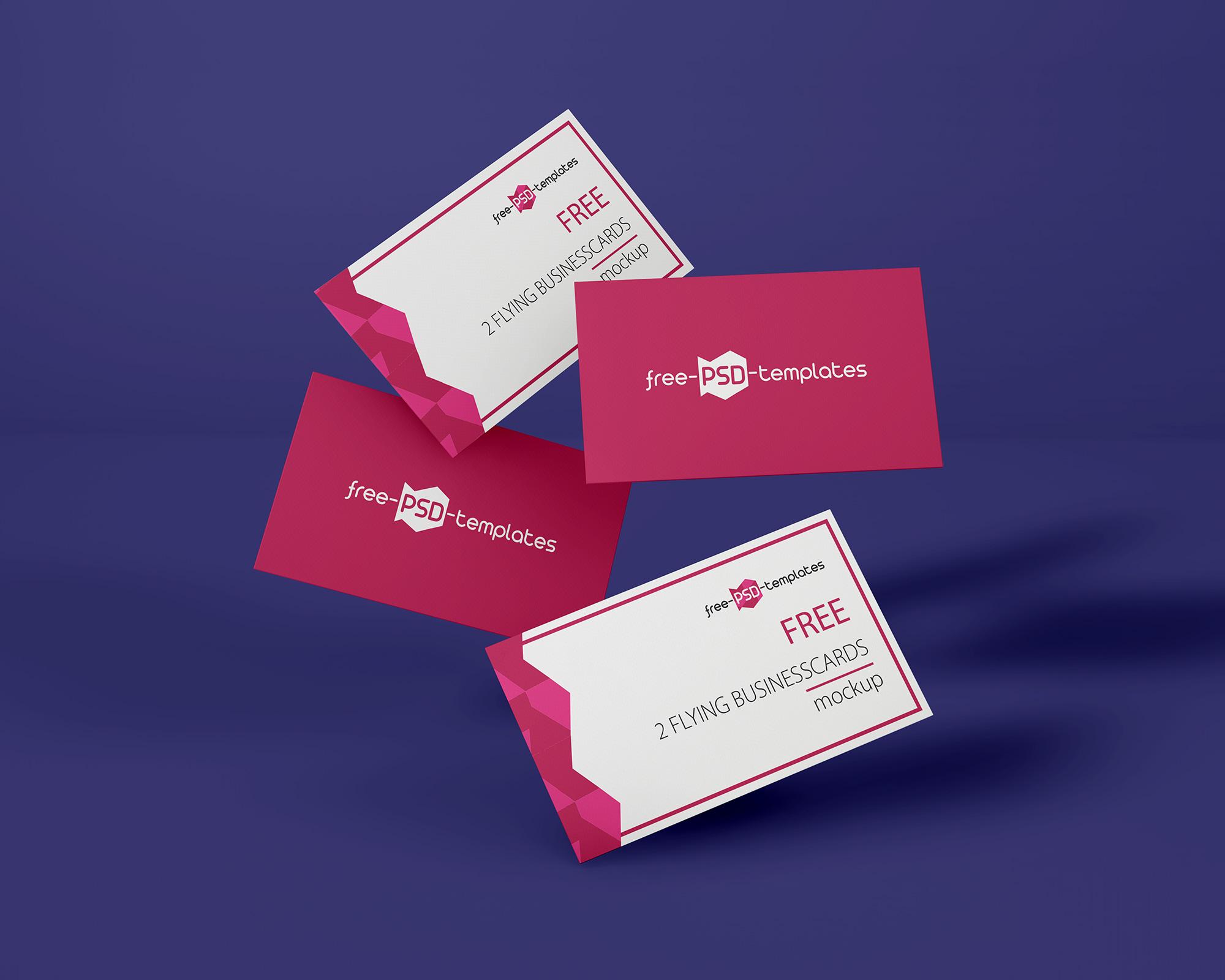 Flying Business Card Mockup 2
