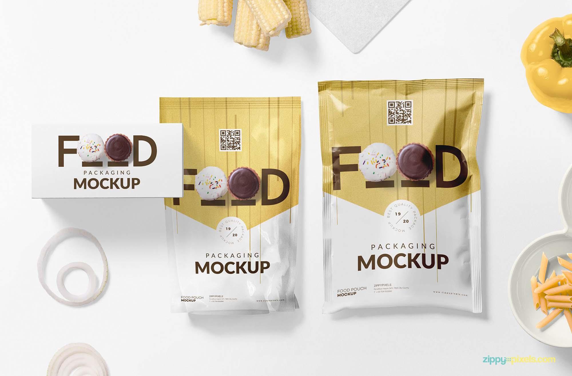 Food Packaging Mockup 2