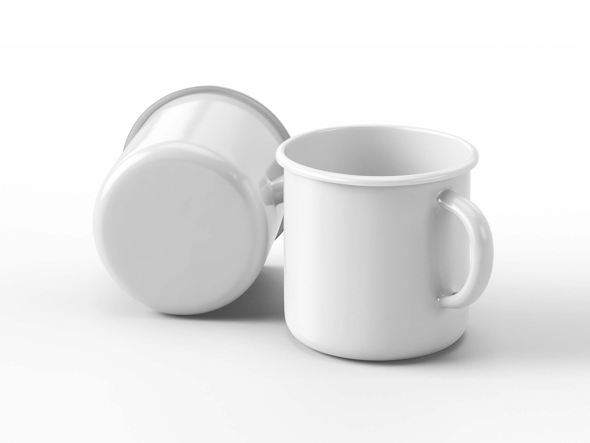 Front Enamel Mug Mockup 2