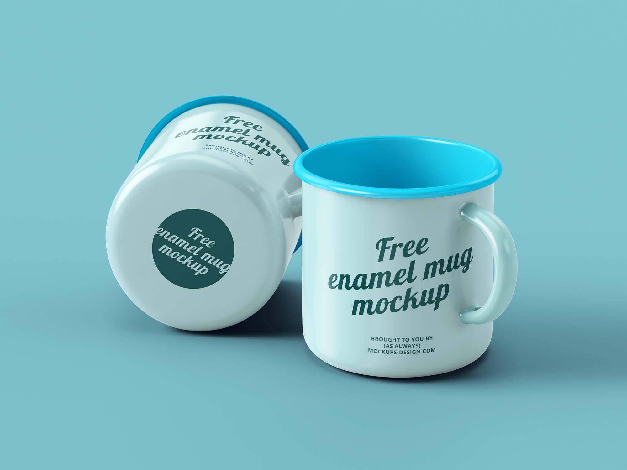 Front Enamel Mug Mockup
