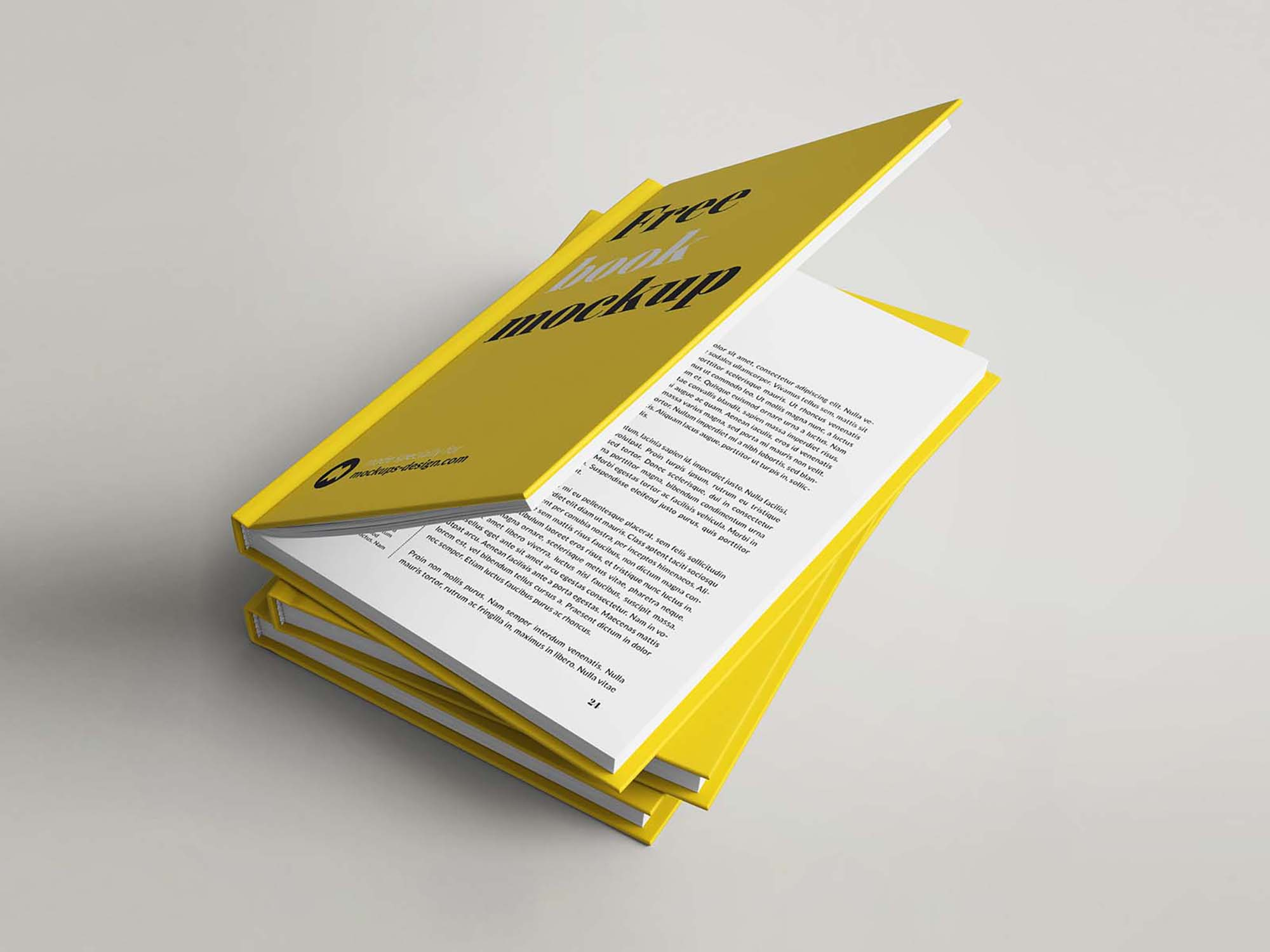 Hardcover Book Mockup 4