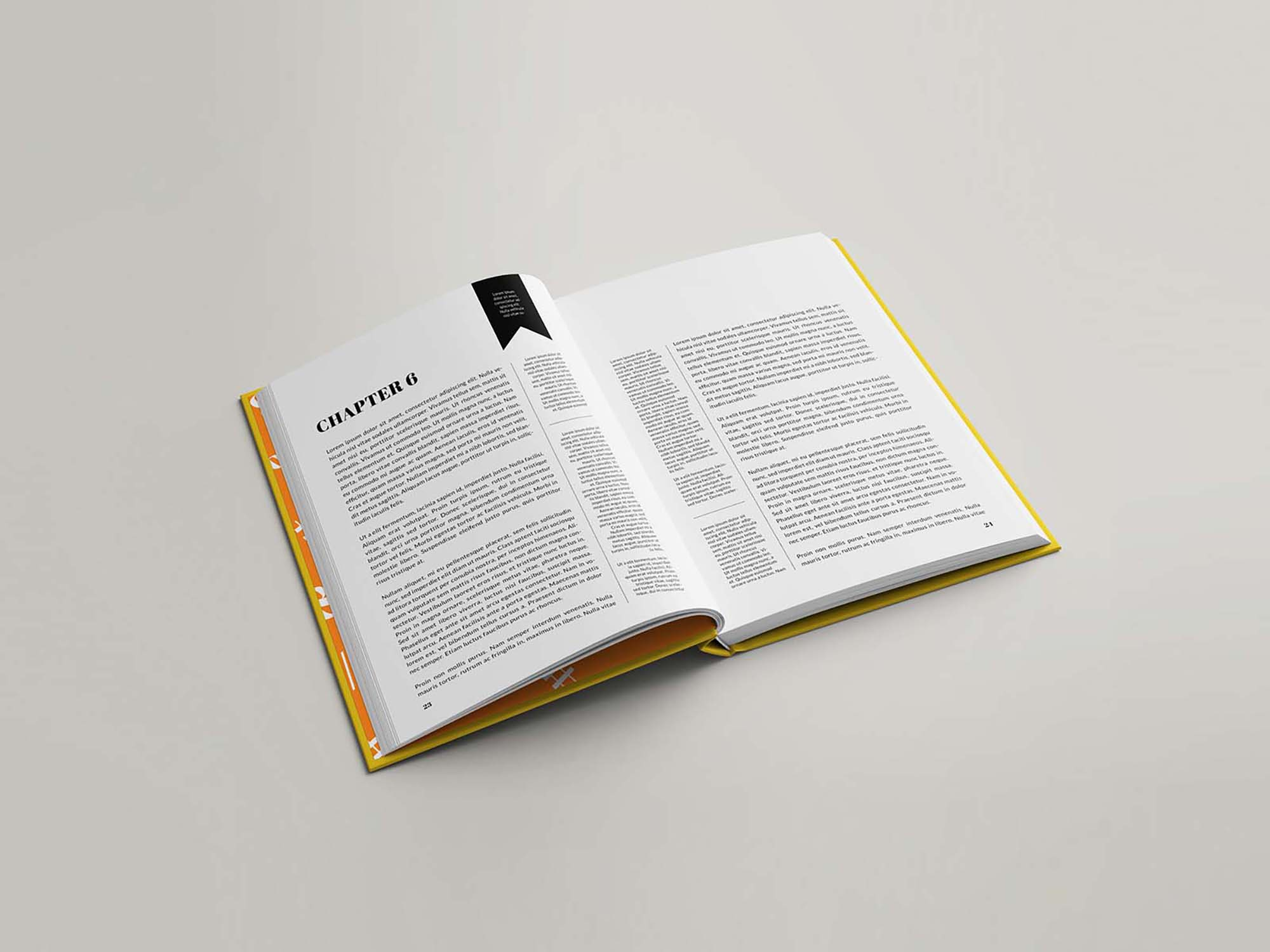 Hardcover Book Mockup 5