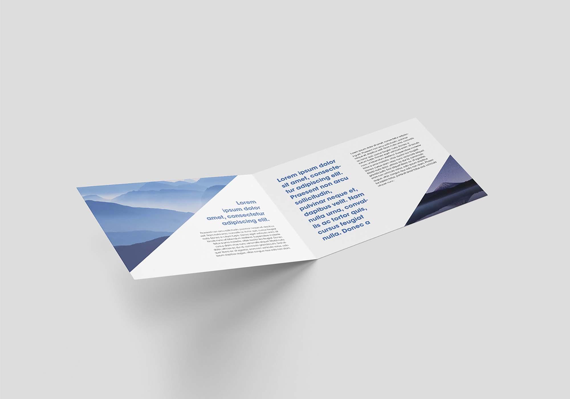 Horizontal Bi-Fold Leaflet Mockup 4