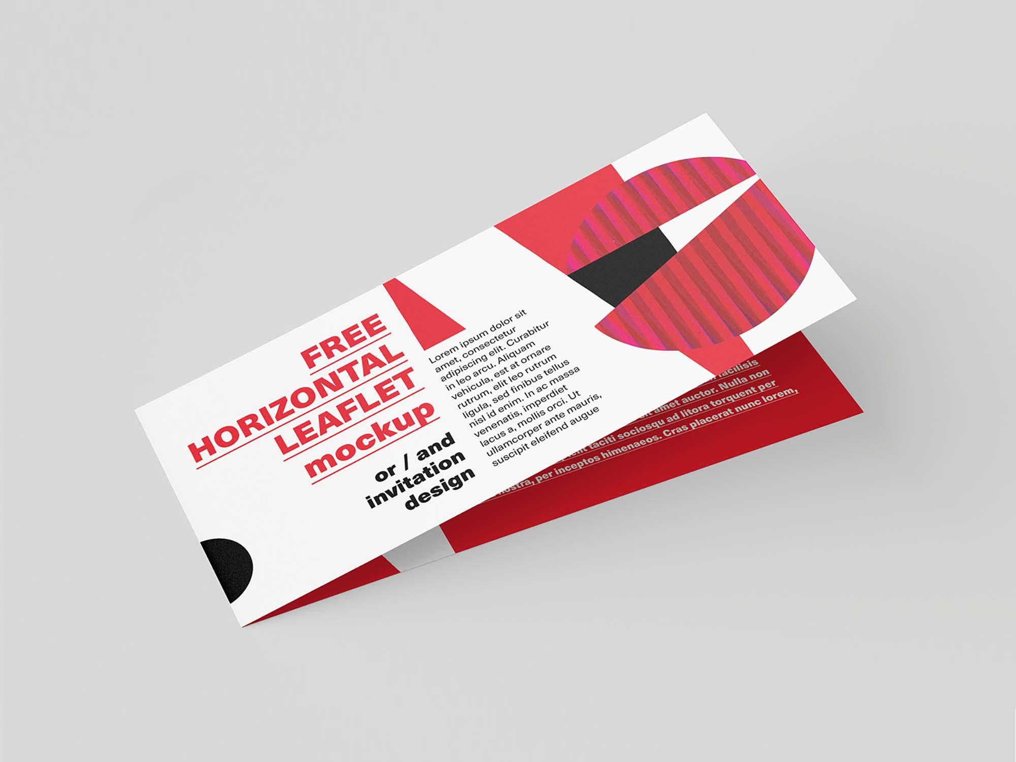 Horizontal DL Leaflet Mockup 4
