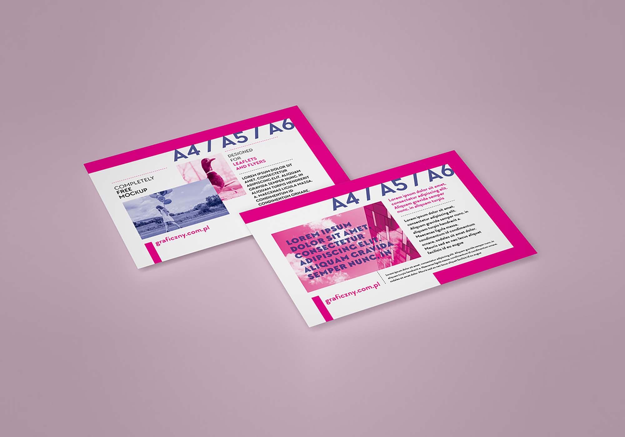 Horizontal Leaflet Mockup 1