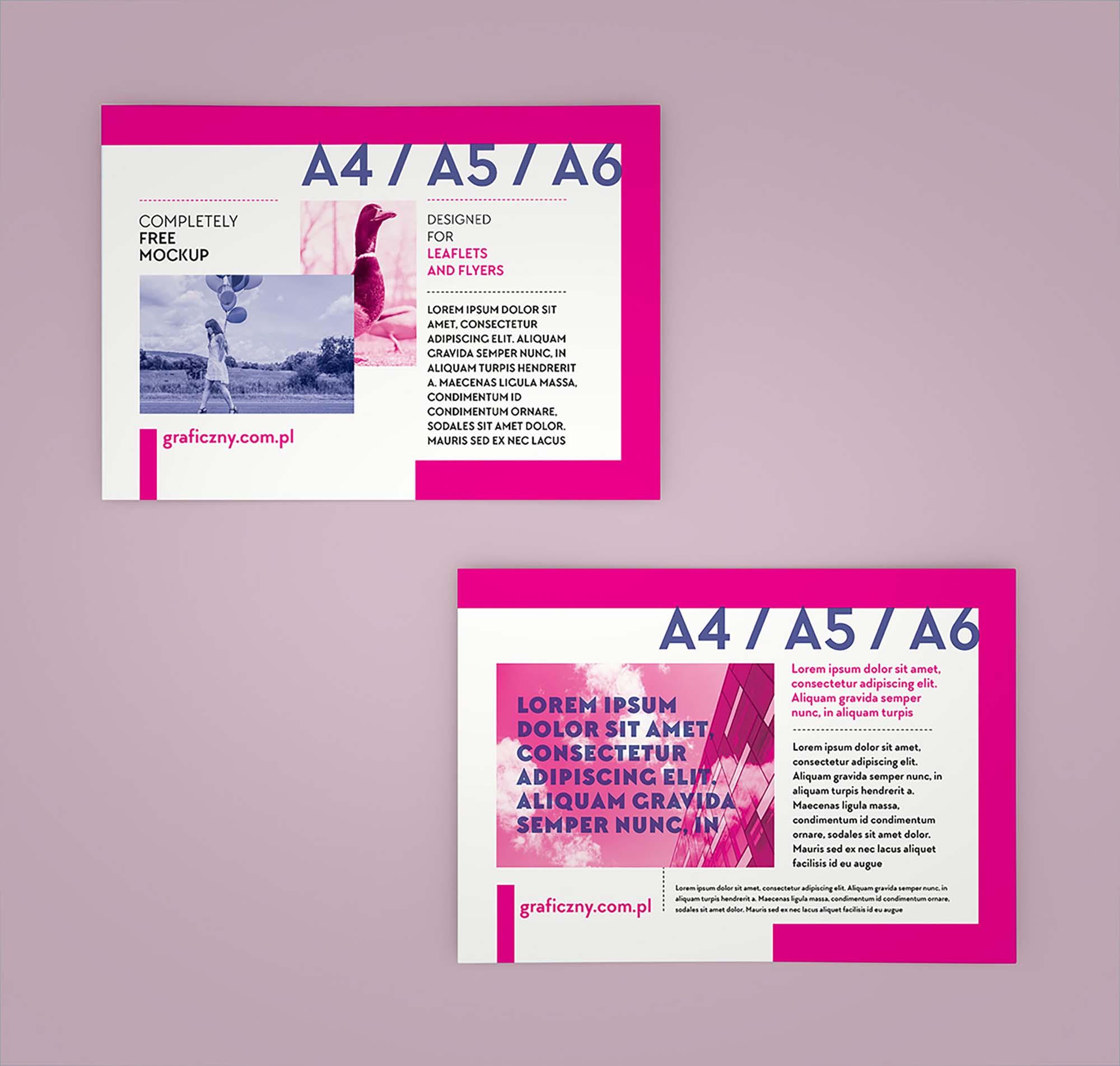 Horizontal Leaflet Mockup 2