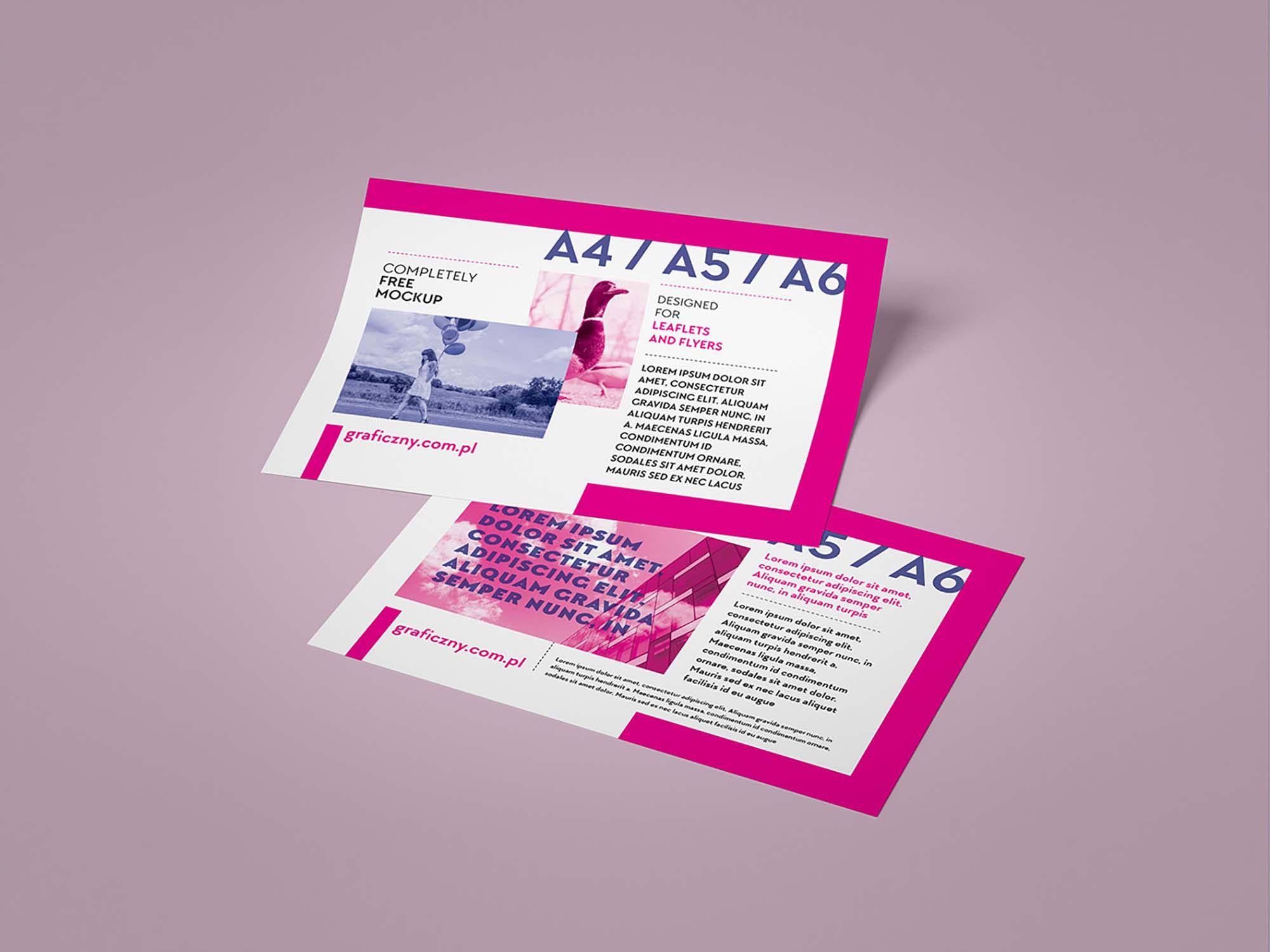 Horizontal Leaflet Mockup 3