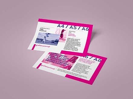 Horizontal Leaflet Mockup