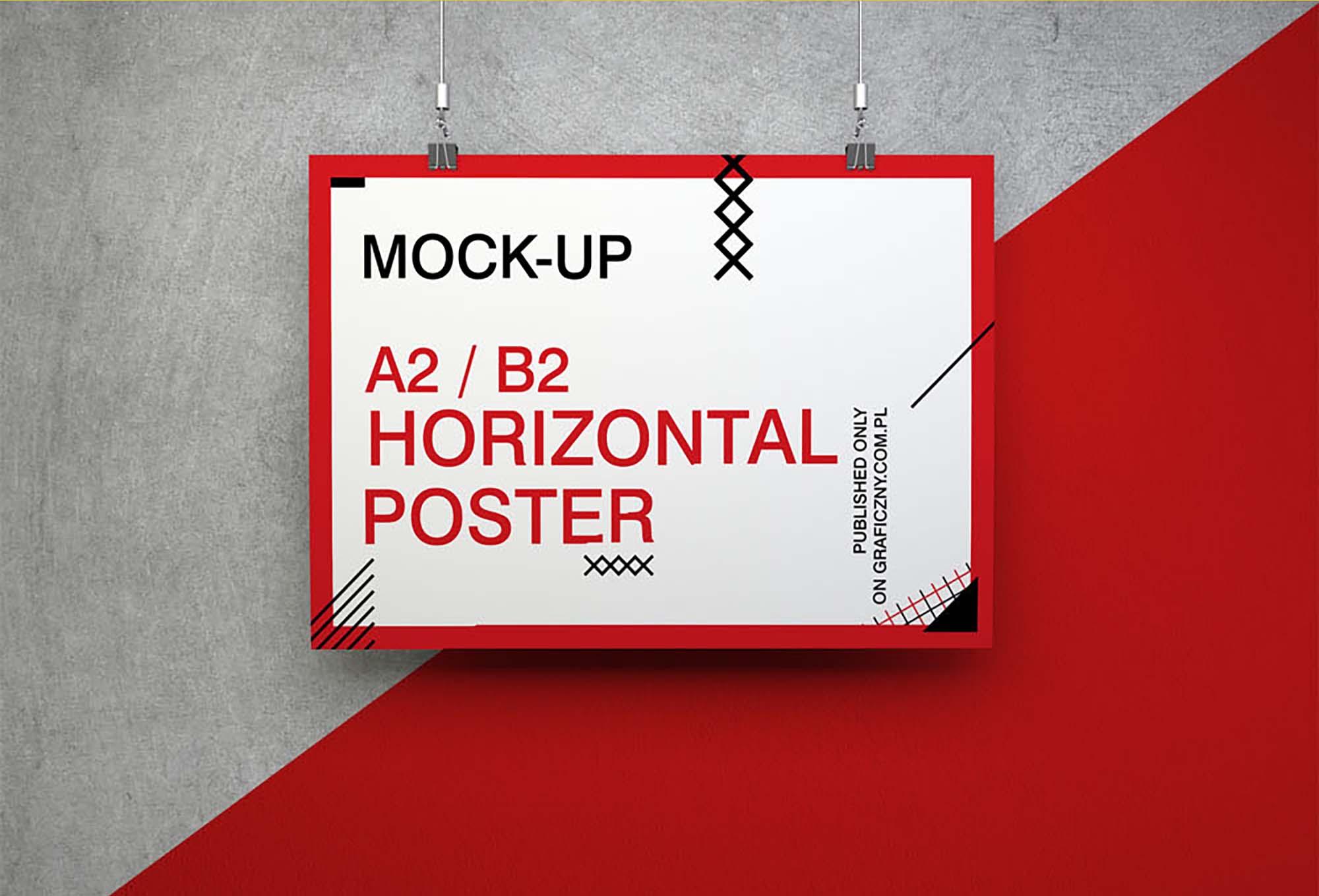Horizontal Poster Mockup