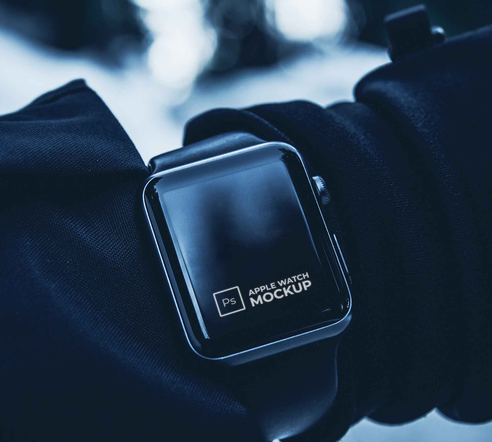 In Hand Apple Watch Mockup