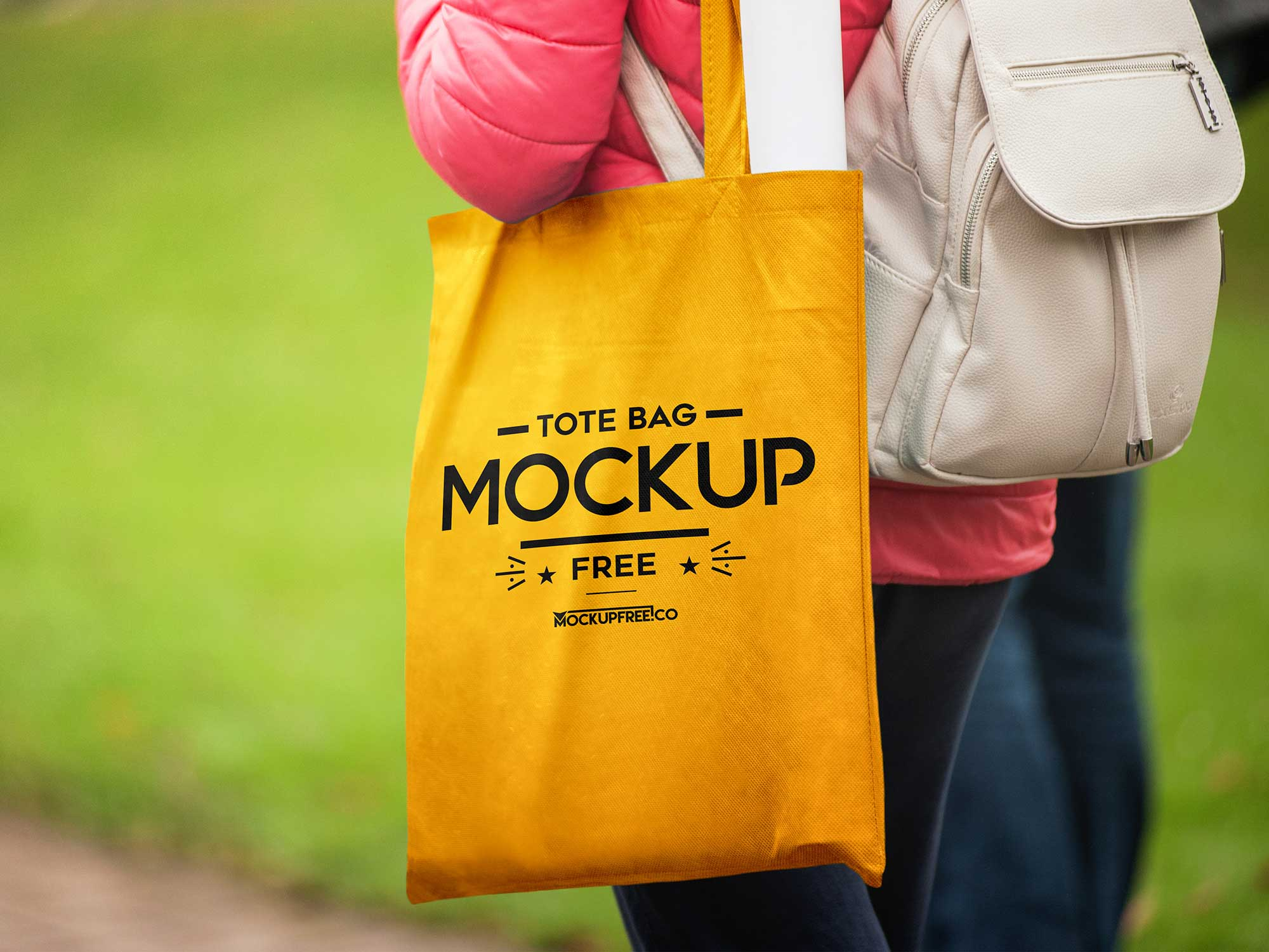 In Hand Tote Bag Mockup