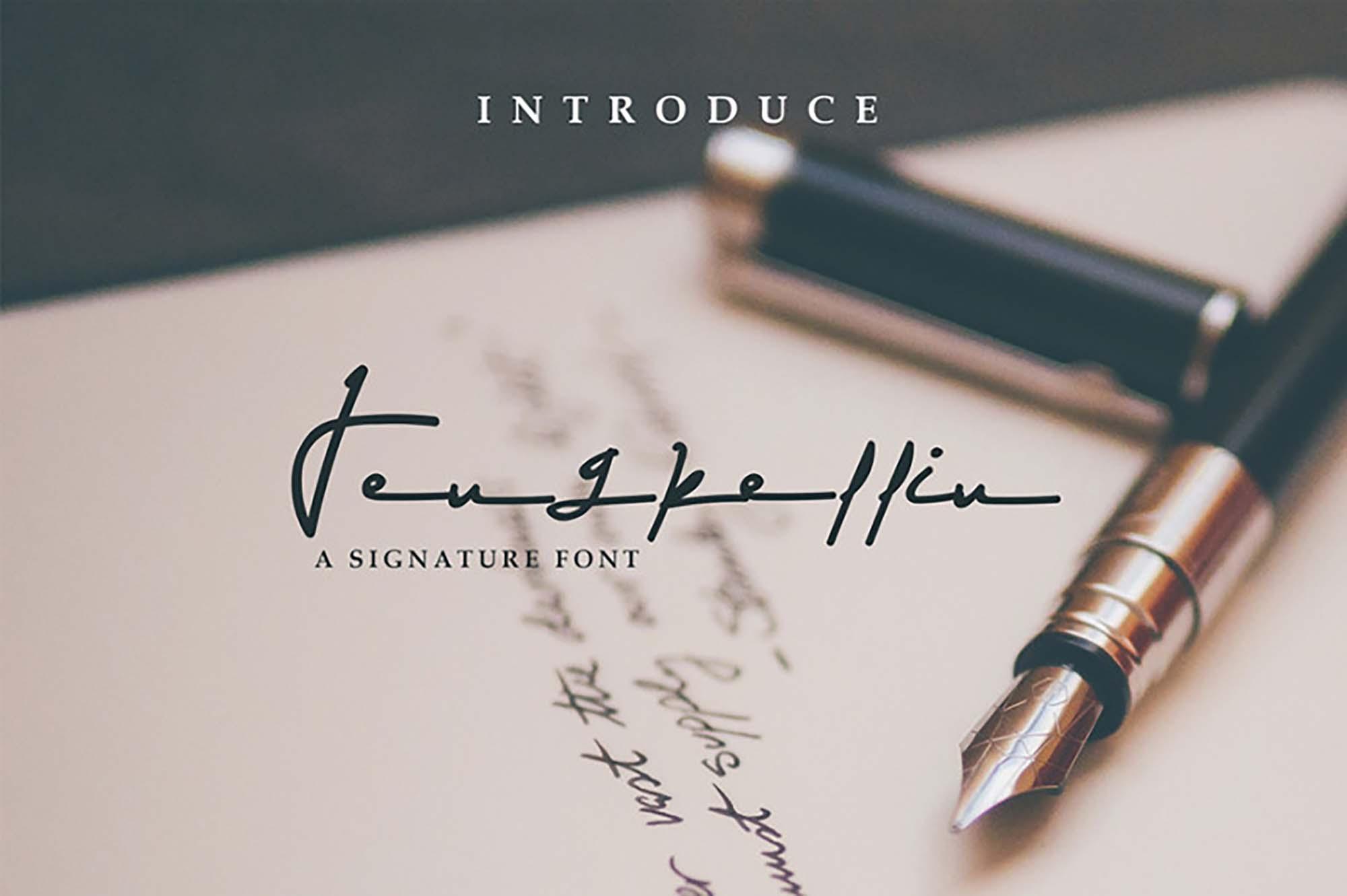 Jengkellin Signature Font