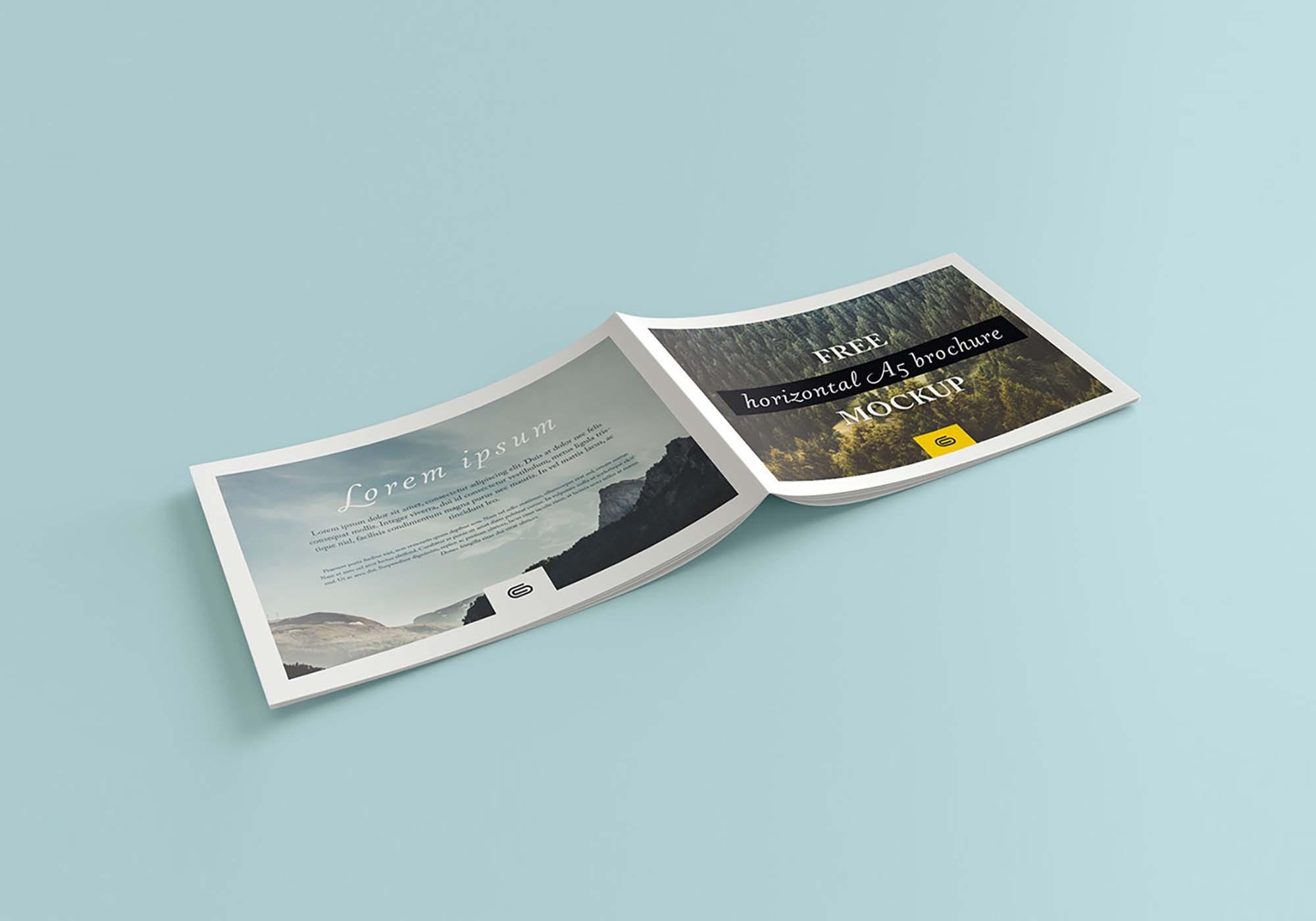 Landscape Brochure Mockup - Cover
