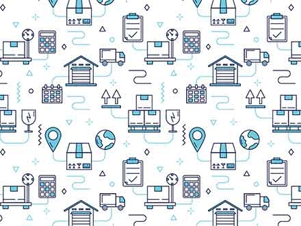 Logistics Seamless Vector Pattern