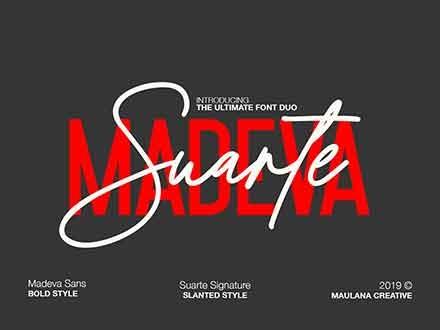 Madeva Suarte Signature Font