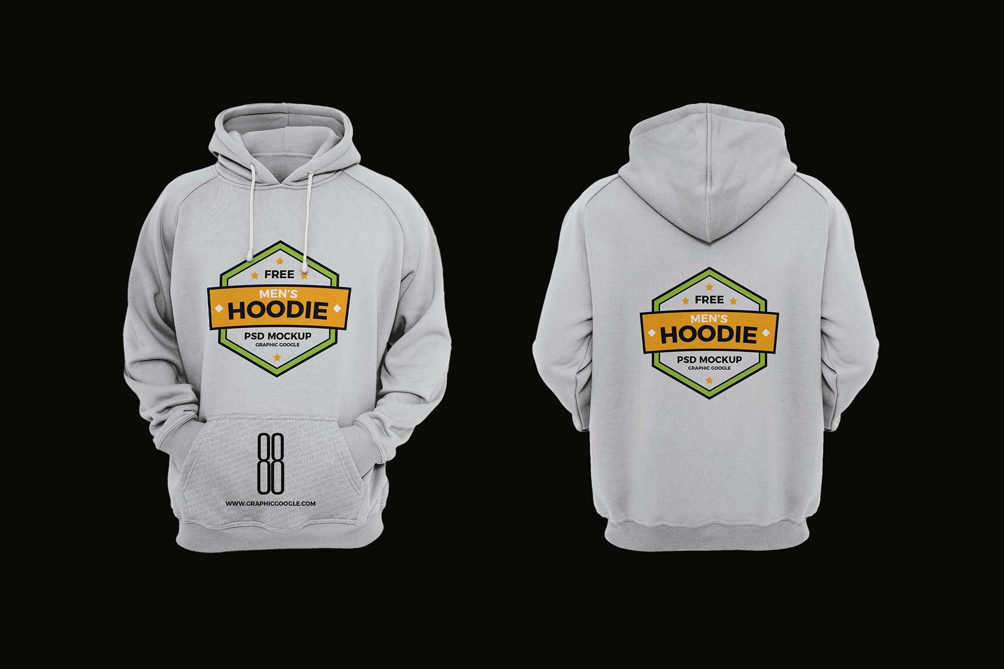 Men's Hoodie Mockup 2
