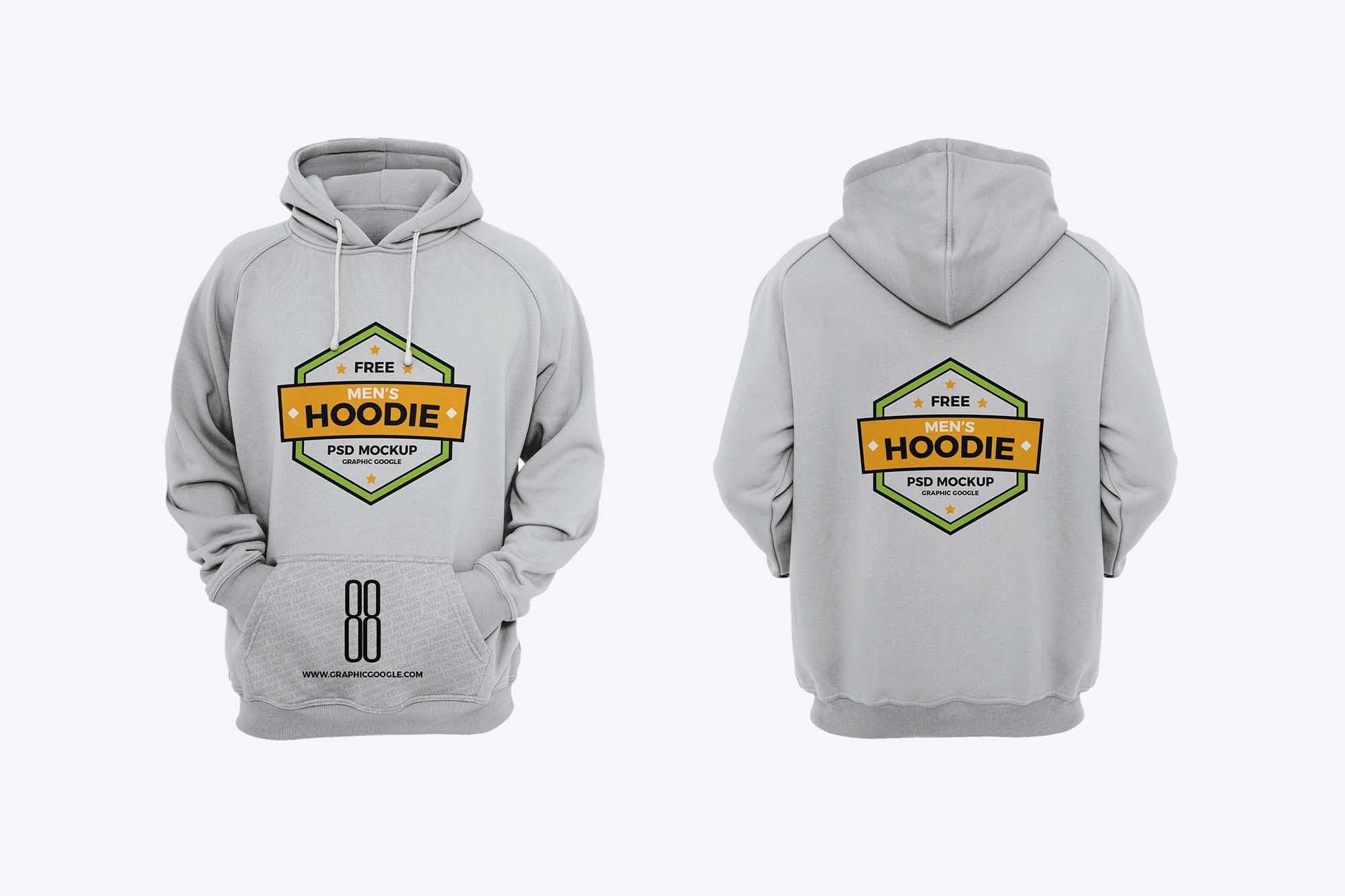 Download Free Hoodie for Men Mockup (PSD)