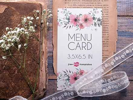 Menu Card Mockup