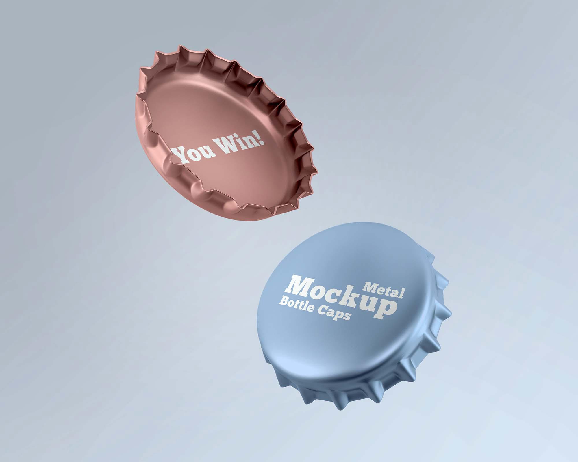 Metal Caps Mockup