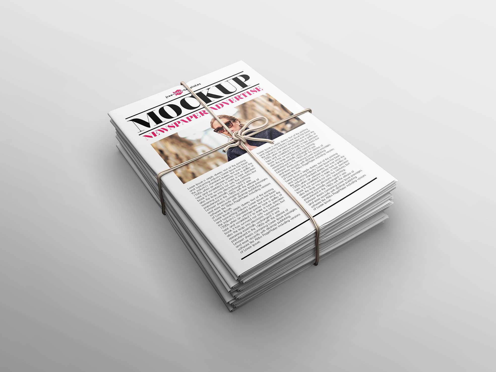 Newspaper Advertising Mockup