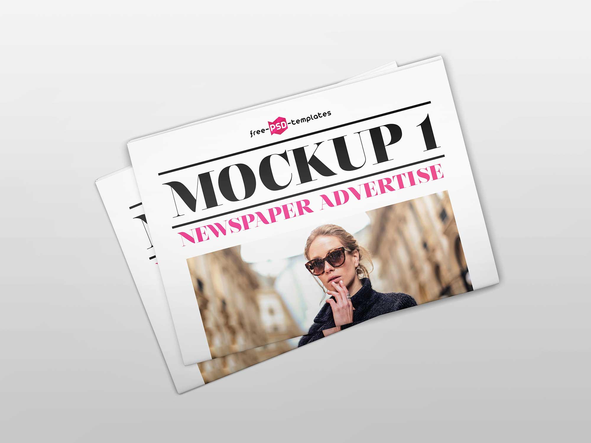 Newspaper Advertising Mockup 3