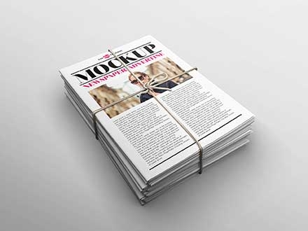 Newspaper Advertising Mockup