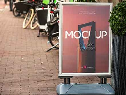 Outdoor Poster Sign Mockup