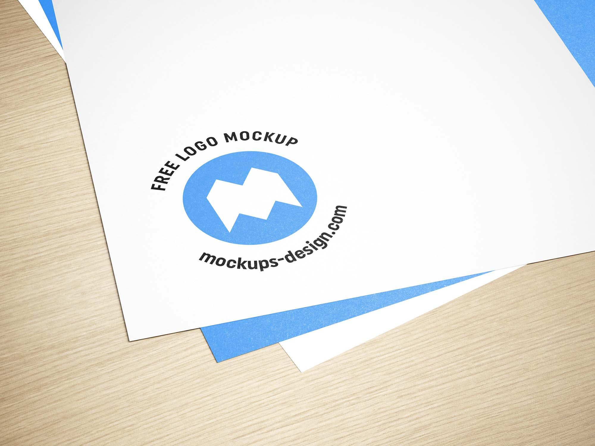 Paper Logo Mockup 2