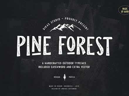Pine Forest Outdoor Typeface