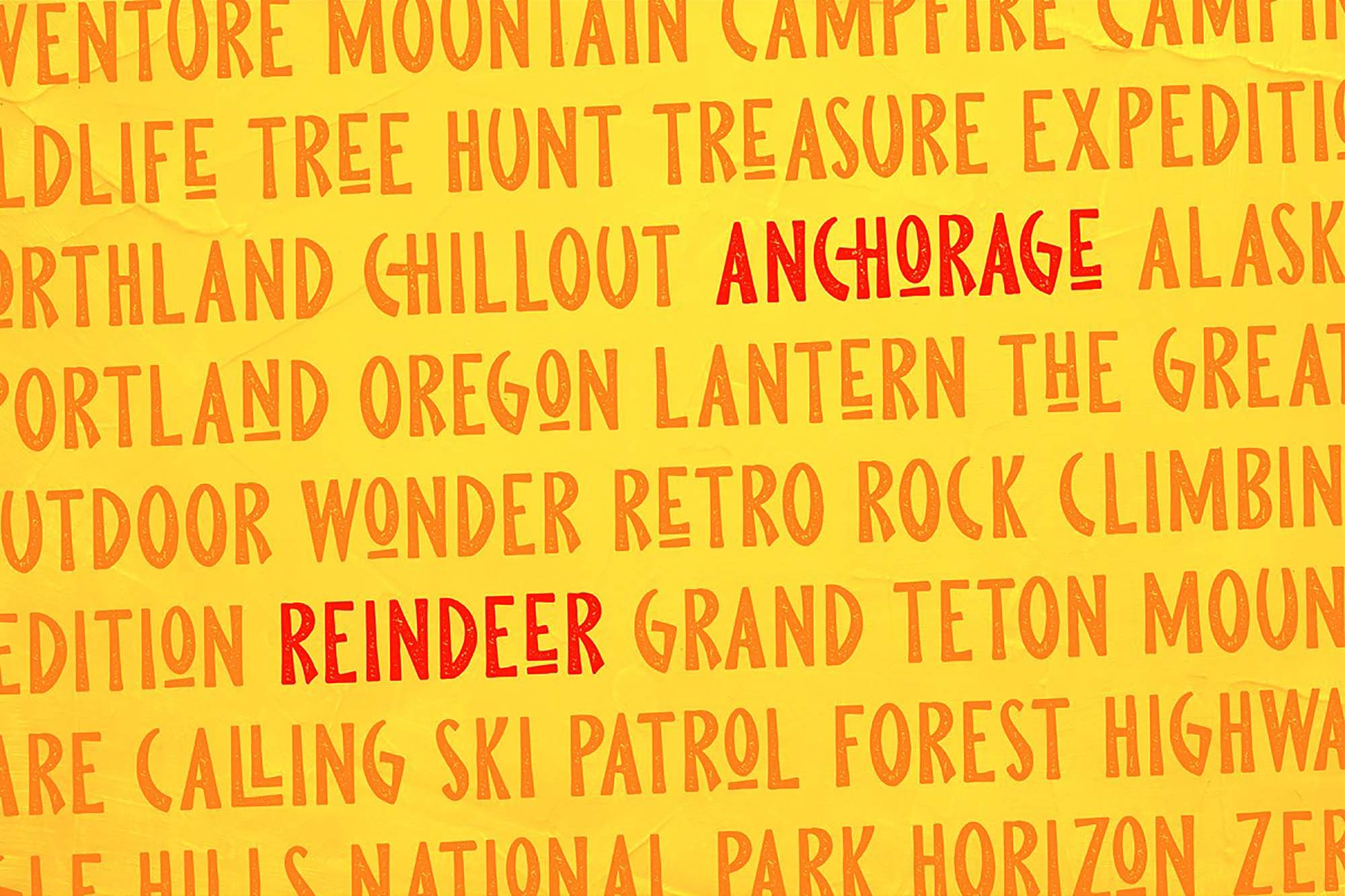 Pine Forest Outdoor Typeface 5