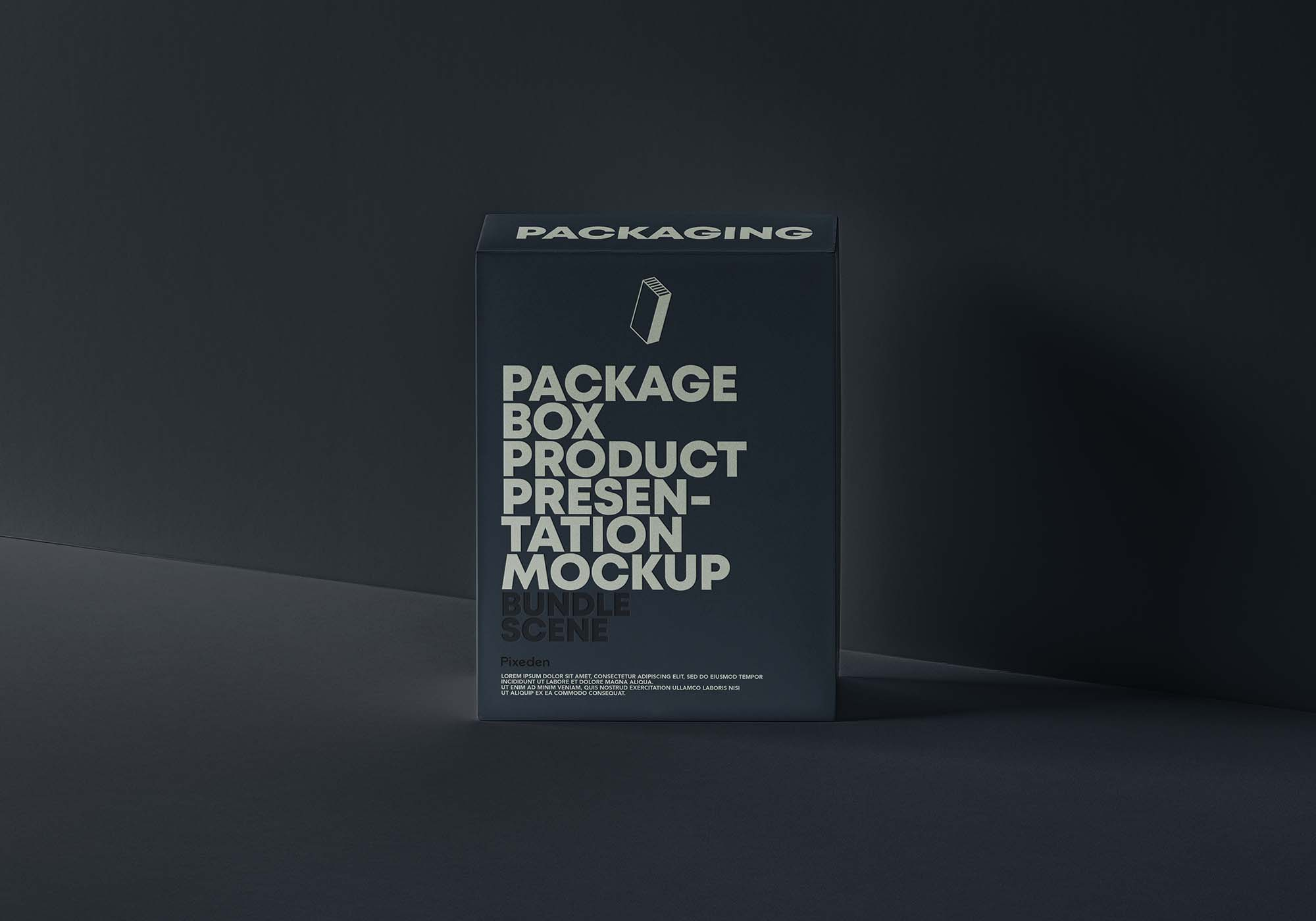 Product Packaging Box Mockup 3