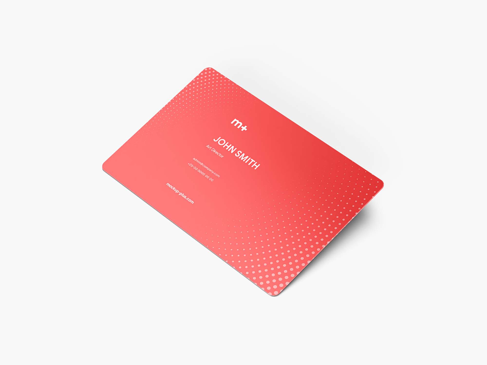 Round Corners Business Card Mockup