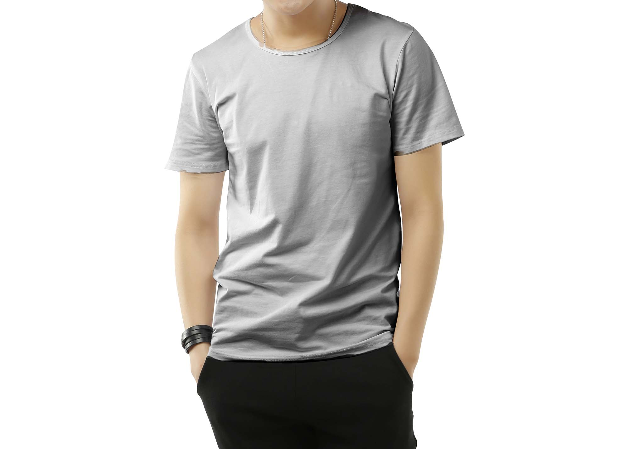 Round Neck Men T-Shirt Mockup 3