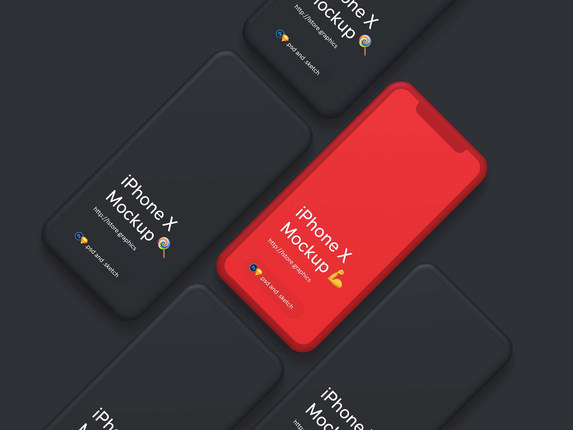 Simple iPhone X Mockup