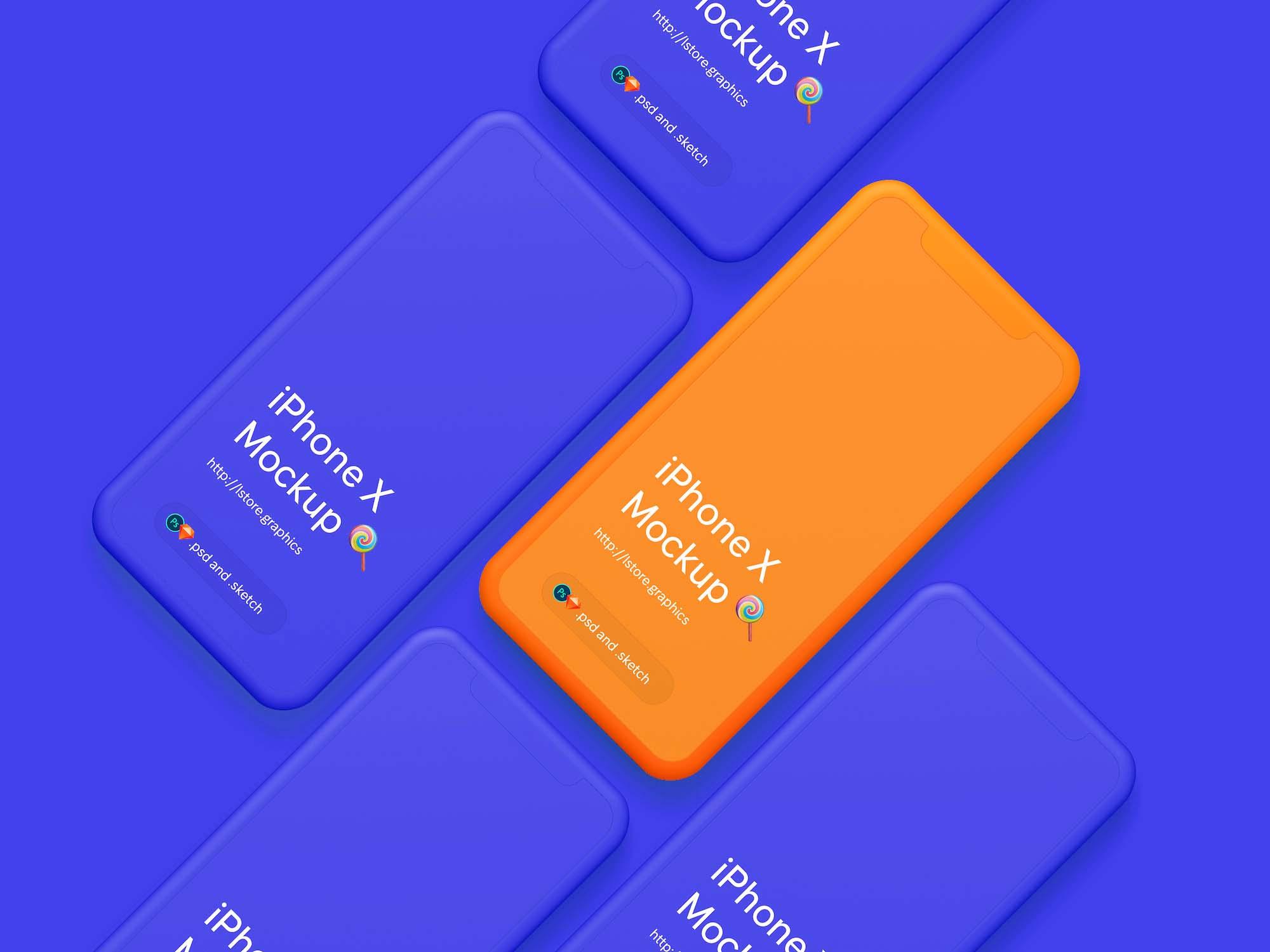 Simple iPhone X Mockup 2
