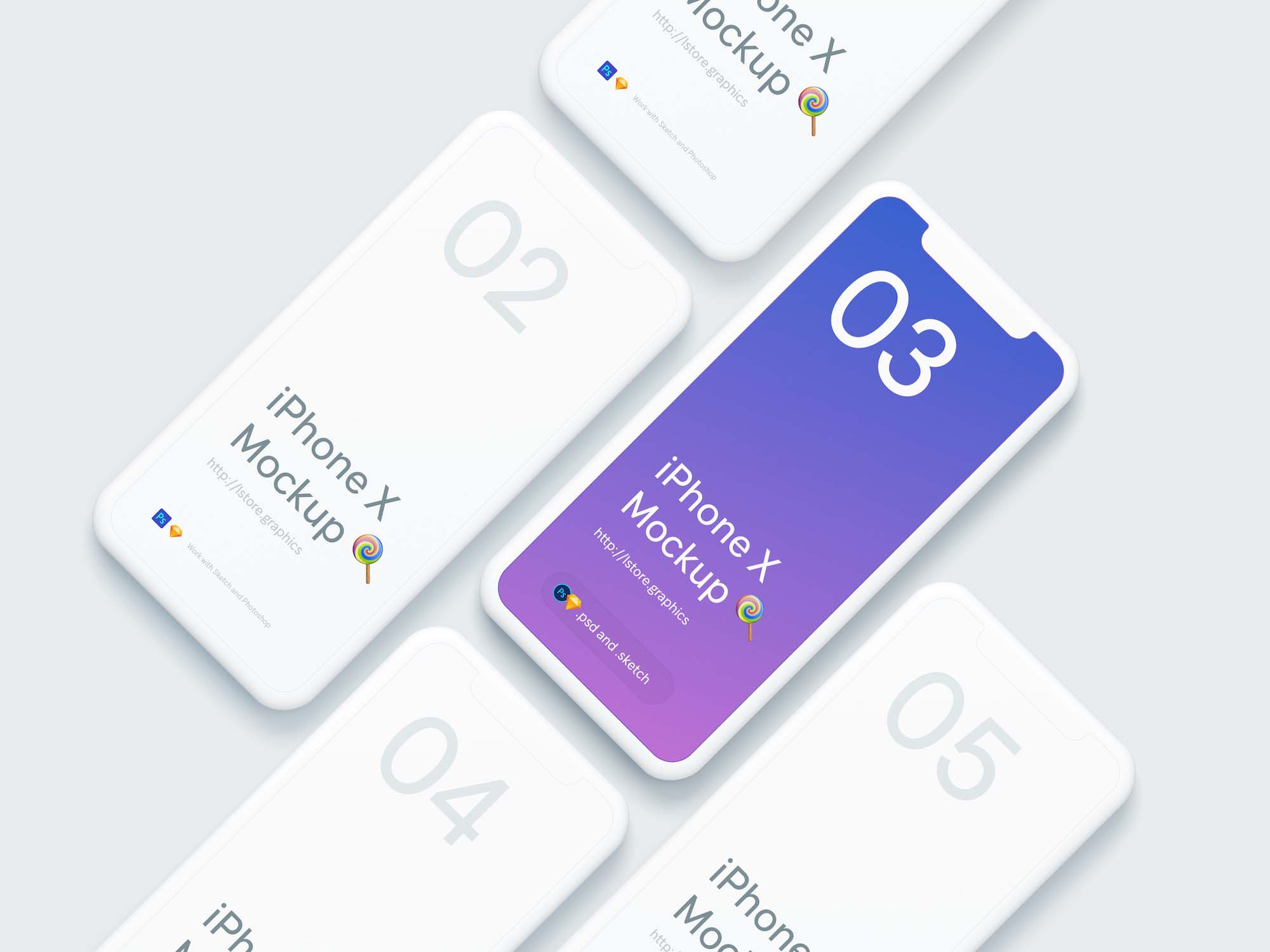Simple iPhone X Mockup 2
