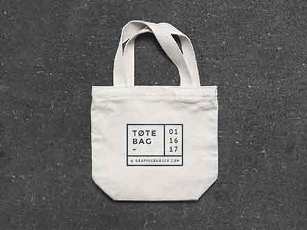 Small Canvas Tote Bag Mockup