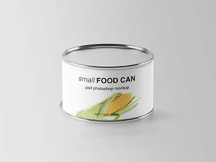 Small Food Can Mockup