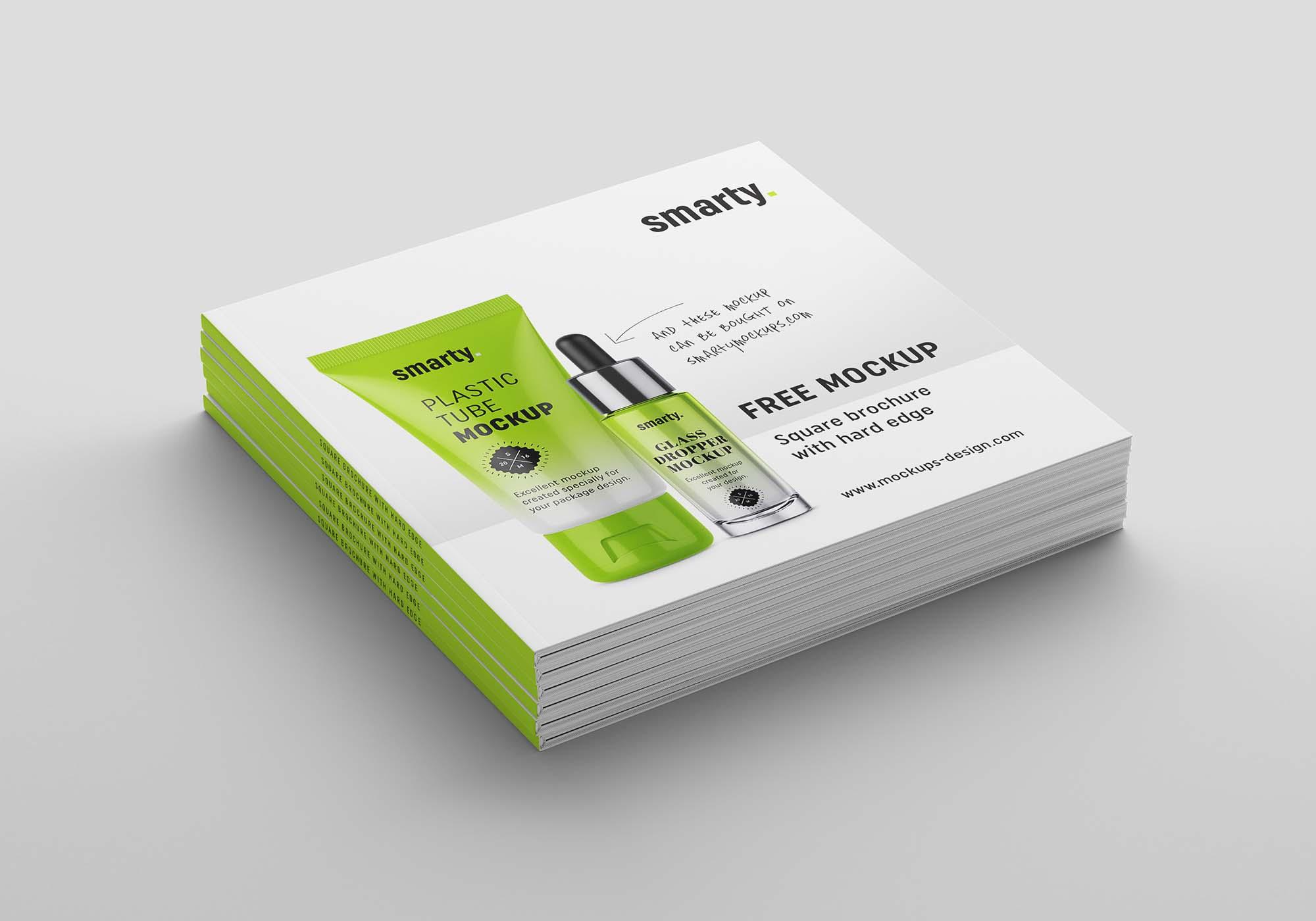 Square Brochure Mockup 5