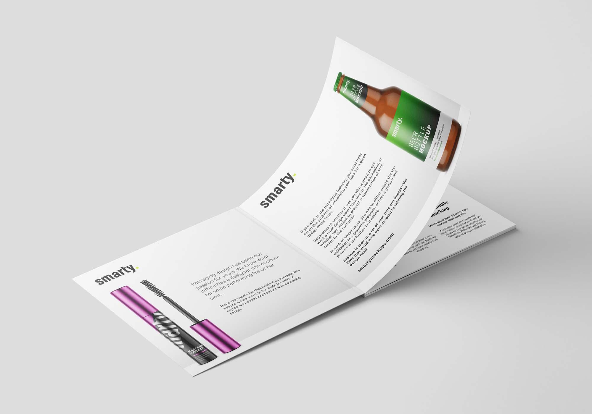 Square Brochure Mockup 7